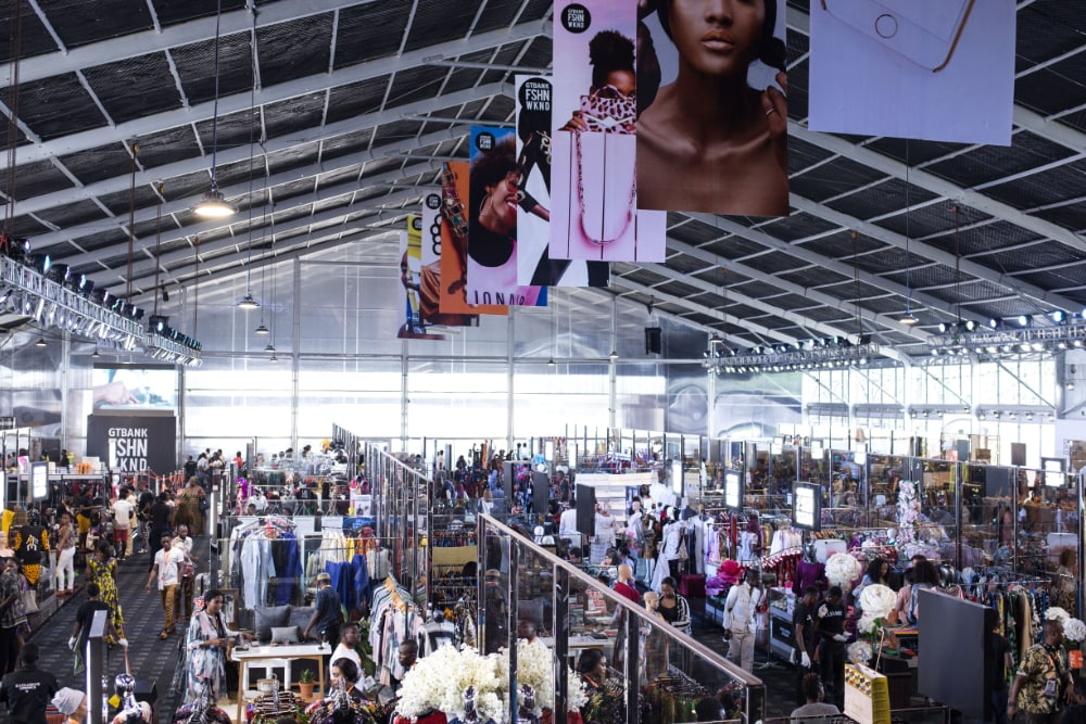 Shopping at GTBank Fashion Weekend